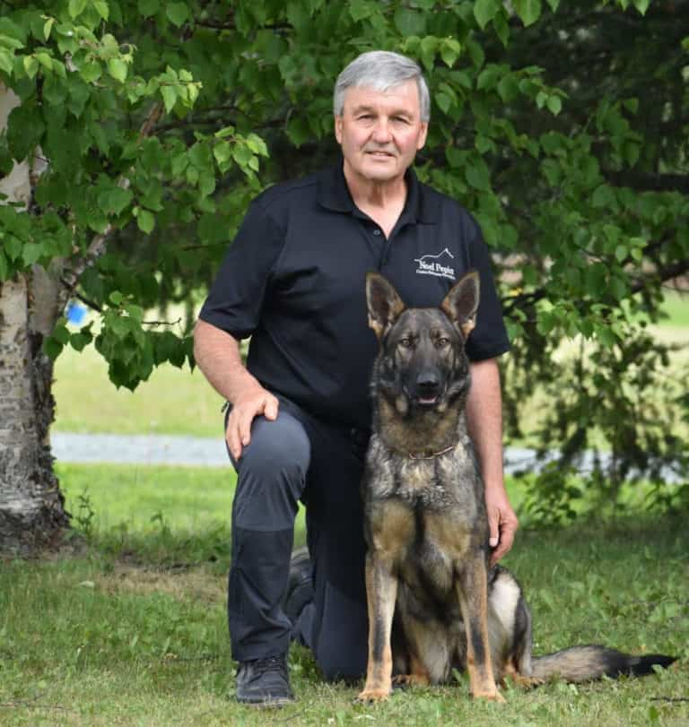 Noel Pepin with his dog